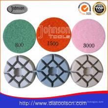 Almohadillas de hormigón: 75mm Diamond Concrete Pad de pulido