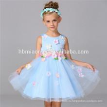 Новый дизайн дешевые горячие продажи кружева цветок девочка платье узоры