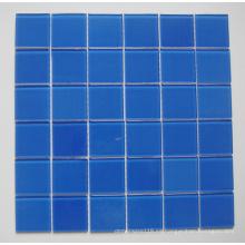 Azulejo de mosaico azul para piscina de vidrio (TM8023)