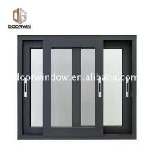 Cerradura de vidrio de aluminio de estilo indio con rejilla para ventanas