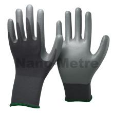 NMSAFETY 13g nylon forro de nitrilo revestido trabalho luvas de trabalho de proteção
