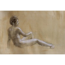 Handmade Wholesale Modern Nude Painting Photo Ebf-032