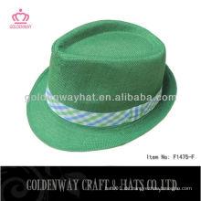 Leinen Fedora Hut Polyester Hüte günstig zum Verkauf
