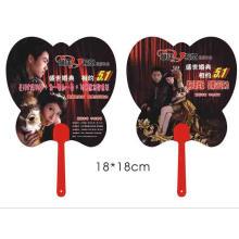 Ventilateur tenu dans la main de fan de la forme pp de fan de promotion de pp avec votre fan de handpiece de pp mignon de logo