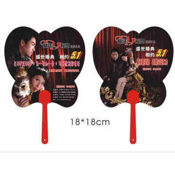 Promotion PP Hand Held Fan Custom Shape PP Fan with Your Logo Print Cute PP Hand Fan