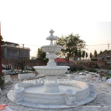 White Carrara Stone Sculpture Fontaine de marbre (SY-F001)