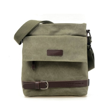 Mäns Canvas Crossbody Military Messenger Sling Satchel Väskor