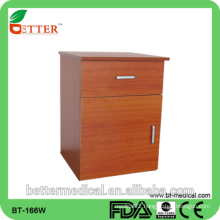 hospital wood bedside locker