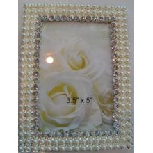 Cadre de Photo de Zinc 4x6inch avec cristaux et perles