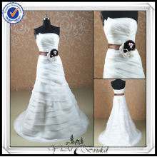 JJ0075 Real Sample Organza Mermaid With Sash Ghana Wedding Dress 2014