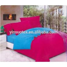 Color sólido Ltalian color de rosa con A + B azul hoja de cama de color diferente