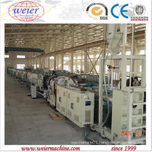 PE PP PPR Water Gas Pipe Making Machine From Qingdao Weier
