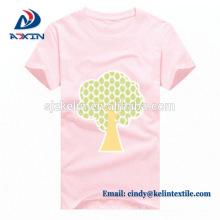 Camiseta customizável do algodão do logotipo da cópia que anuncia camisas de T
