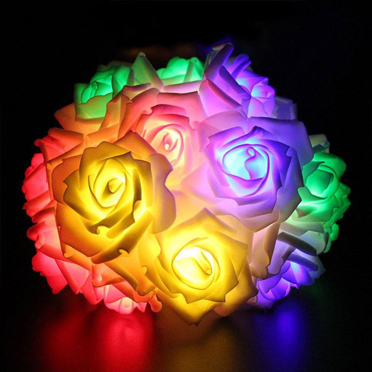 rose flower multicolour led string light