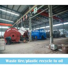 Pneus perdus de XinXiang HuaYin 8 / 10T / usine de raffinage d'huile de pneu / machine