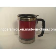 Tasse de changement de couleur en acier inoxydable, tasse magique