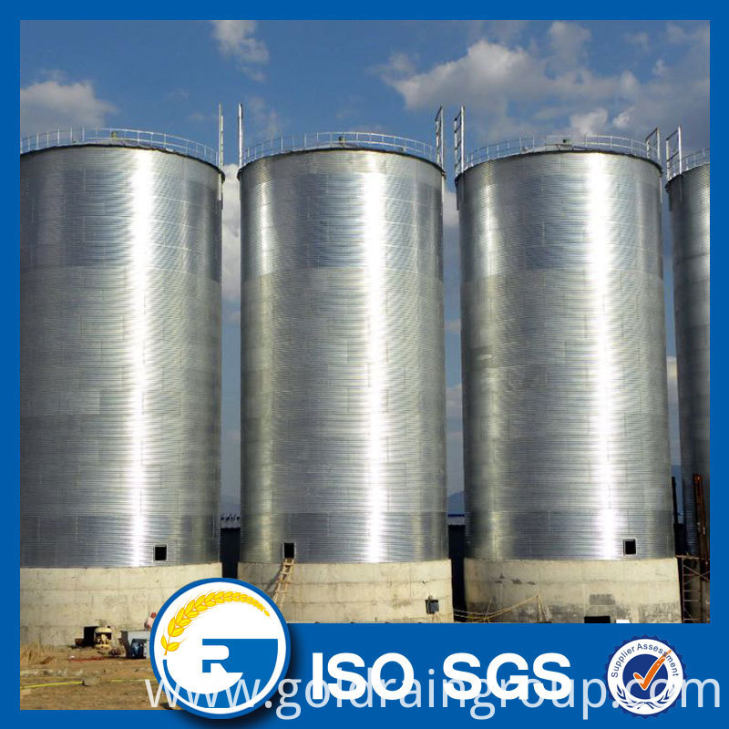 corrugated grain silos