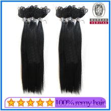 Straight Style Black Color Top Quality Thread Knot Hair Brazilian Human Hair Virgin Hair Remy Hair