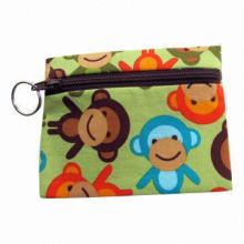 Kids'/Cute Monkey Coin Purse with Zipper Front for Easy Access, Perfect for Kids