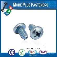 Made in Taiwan Trilobular Thread Rolling Tapping Screw Type Z Drive Flat Head