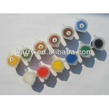 краски для ткани 12с 10мл слоеного краски набор