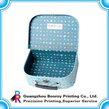 La fábrica de China modificó la nueva maleta de cartón de impresión de logotipo de diseño personalizado