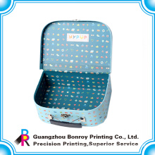 China factory customized new design logo printing cardboard suitcase
