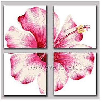 100% Hand Painted Modern Flower Oil Painting