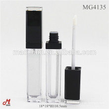 Square long lip gloss container with mirror