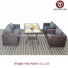 Neues Set Outdoor Rattan Esszimmer Set mit Tisch (1207)