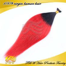 Fabriqué en Chine vente chaude non transformés ombre bande 100% extensions de cheveux ruban brésilien