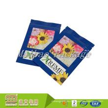 Bolso de sellado plástico de encargo al por mayor del pequeño 3g 4g 5g Ziplock 3 del sello de aluminio del papel de aluminio para la especia