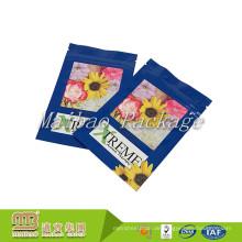 Gewohnheit druckte 3 seitliche Heißsiegel-Plastikreißverschluss-oberste Nahrungsmittelgrad-flache Beutel-Gewürz-Verpackungs-Tasche