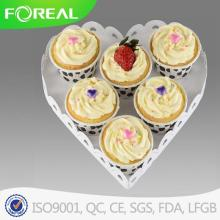 Metal Wire Heart Shape Dessert Plate