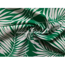 Green Bamboo Leaf Printing Fabric for Swimwear (HD1401097)