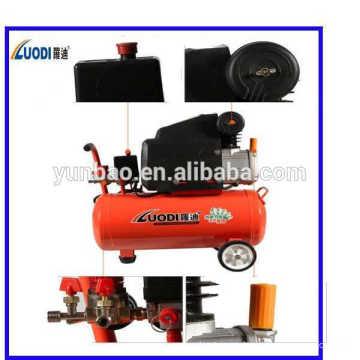 Compresor de aire de pistón de accionamiento directo portátil para la venta 24L, 2.5HP con CE, ROHS