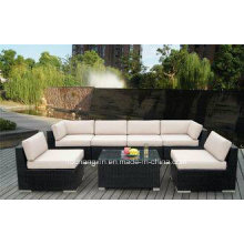 Modern Outdoor Rattan/Wicker Sofa Sets, Rattan Sofa Furniture, Rattan Sofa