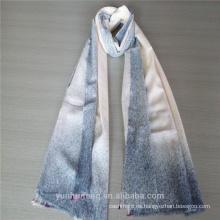 Bufanda de cachemira con brocha de aire de color azul nuevo diseño de moda