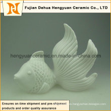 Diseño personalizado de pescado de cerámica para la decoración del hogar