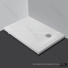 Rectangle top quality stone resin shower tray for sale