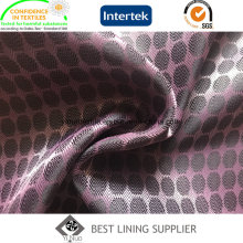 100 Polyester Two Tone Dobby Taffeta Lining Fabric Supplier