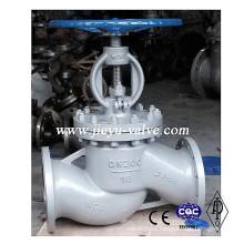 DIN Pn16 / 25/40/63/100/160 Válvula de Globo de Aço Carbono