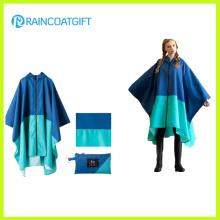 Ponchos Rpy-045 de pluie de revêtement de PVC de polyester unisexe de mode