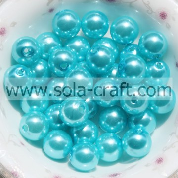 6MM Decoration Wholesale ABS Pearl Light Blue Plastic Ball Beads For Garment Wedding Dress
