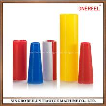 Cone de embalagem de fio de plástico têxtil