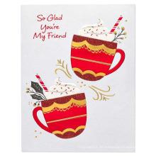 Flash Cards für Freunde Partyeinladungen Card Glitter Card Paper Glitter