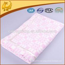 Wide Pink Jacquard Super Soft Warm Solid Farbe Lange Größe 100% Baumwolle Material Decke Für Bbay
