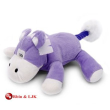 custom promotional lovely purple cow stuffed toy
