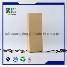Quad Seal Satnd up Kraft Paper Bag with Custom Printing
