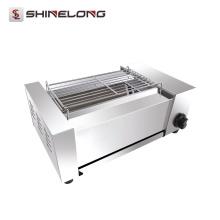 K1356 professionnel en acier inoxydable commercial gaz automatique BBQ Barbecue poulet Grill